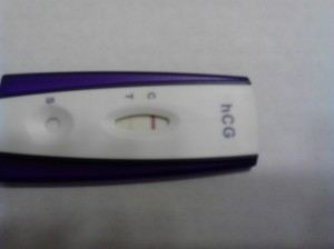 Positive Pregnancy Test  2-11-13